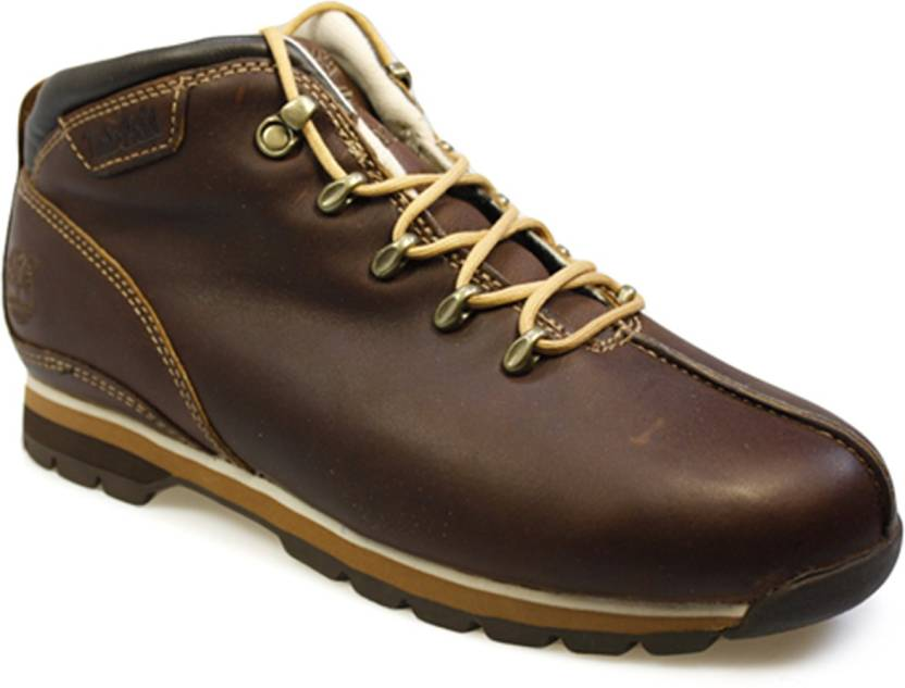 90d395942282 Timberland Splitrock Brown Leather Hiking Boots Hiking   Trekking Shoes For  Men
