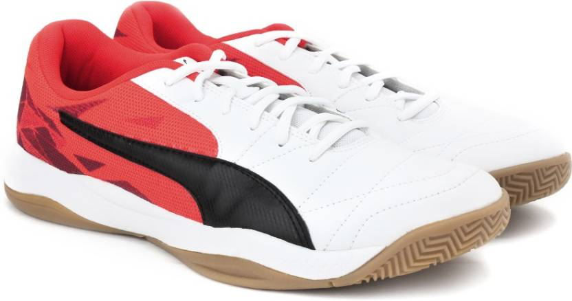 b78dd79d4e9cb7 Puma Veloz Indoor III Indoor Shoes For Men - Buy white-black-red ...