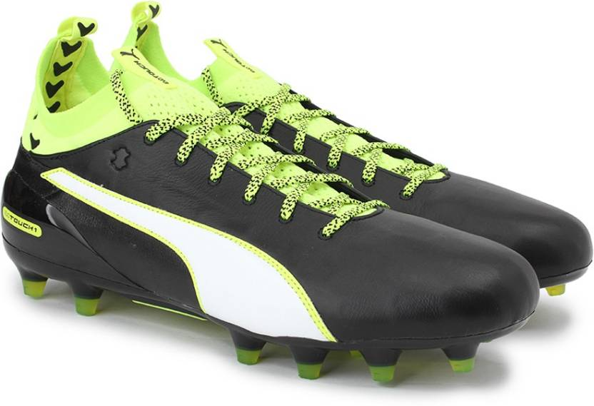 6b92c6fef456 Puma evoTOUCH 1 FG Football Shoes For Men - Buy black-white-safety ...
