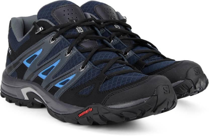 fbaf04b3cec1 Salomon ESKAPE AERO Deep Blue GY BL Trekking and Hiking Shoes For Men  (Black