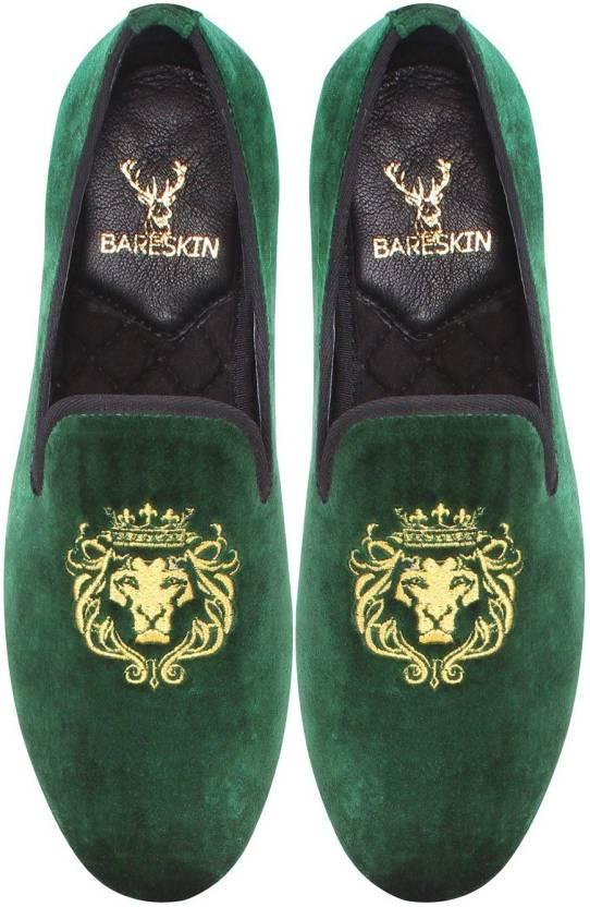 73cdd983a3b Bare Skin Velvet Slip On Slip On For Men - Buy Dark green Color Bare ...