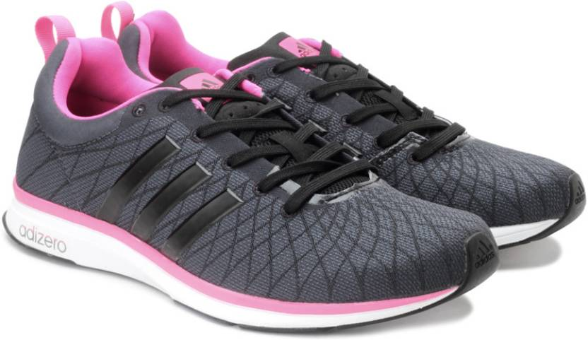 finest selection 52b5c b40ad ADIDAS Adizero Feather 4 W Running Shoes For Women (Grey, Pink)