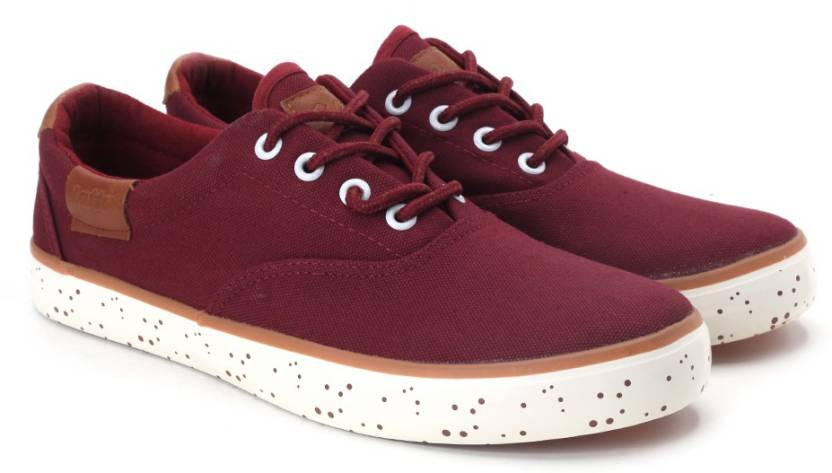 Lotto Canvas Shoes For Women Buy Maroon Color Lotto Canvas Shoes