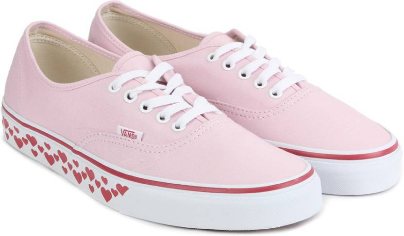 Vans AUTHENTIC Sneakers For Men - Buy (HEARTS TAPE) PINK LADY RED ... aa47ca8f282b