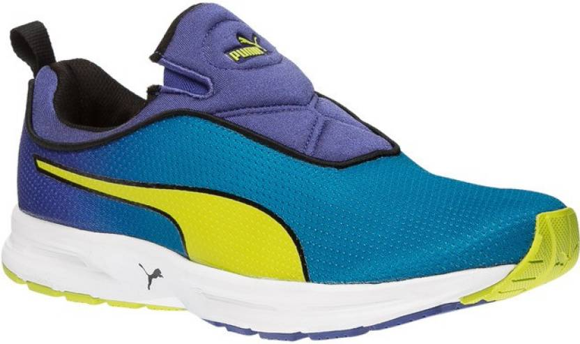 Puma EF Cushion Slipon Fade DP Running Shoes Blue  available at Flipkart for Rs.3999