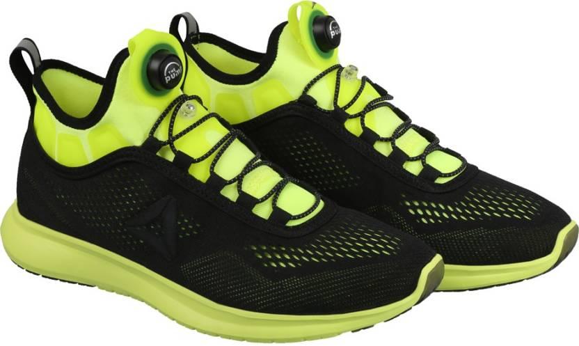 98a249a782d REEBOK PUMP PLUS TECH Running Shoes For Men - Buy SOLAR YELLOW BLACK ...
