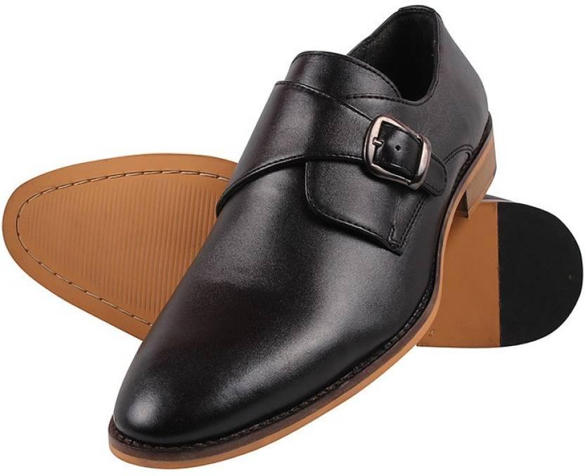 6b92ed54ba76 Aditi Wasan Monk Strap For Men - Buy Black Color Aditi Wasan Monk ...