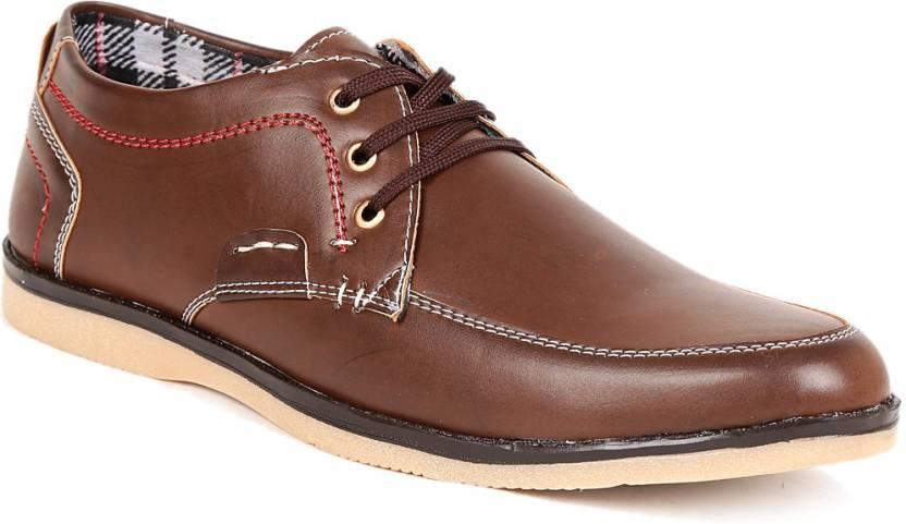 GS Brown Semi Casual Shoes For Men - Buy Brown Color GS Brown Semi ... 560805caf43b