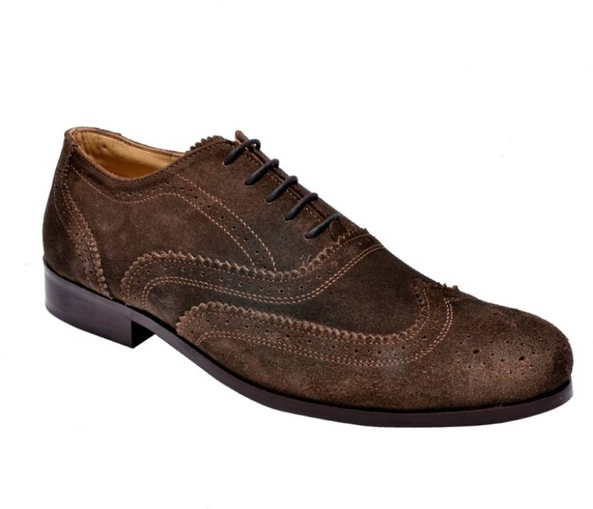 68da7799984 Hirel's Men Suede Leather Brogues Lace Up Shoes For Men