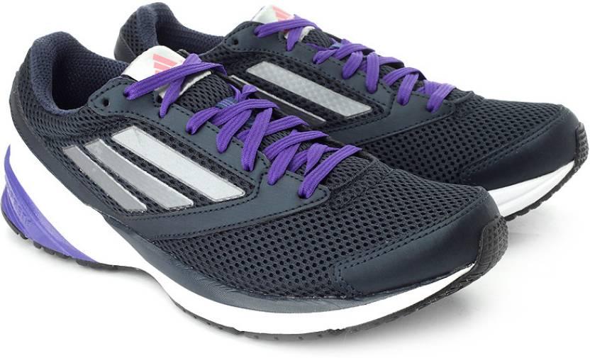 Adidas Lite W Scarpe Da Corsa Per Le Donne Acquistano Nero, Bianco, Blu