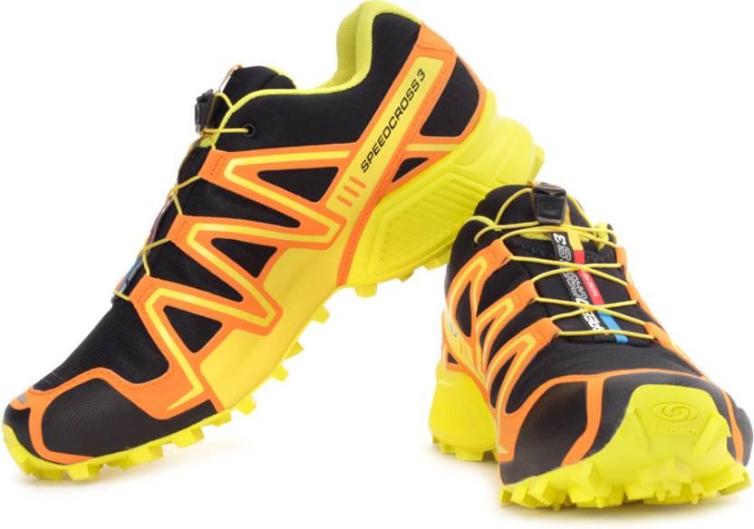 online store 5dbd5 7d5db Salomon Speedcross 3 CS Mountain Trail Running Shoes For Men (Orange, Black,  Yellow)