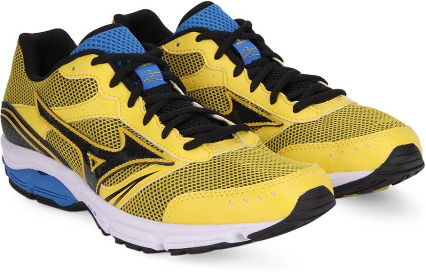 1189d8e51efd Mizuno WAVE IMPETUS 3 Running Shoes For Men - Buy Cyber  Yellow/Black/Directoire Blue Color Mizuno WAVE IMPETUS 3 Running Shoes For  Men Online at Best Price ...