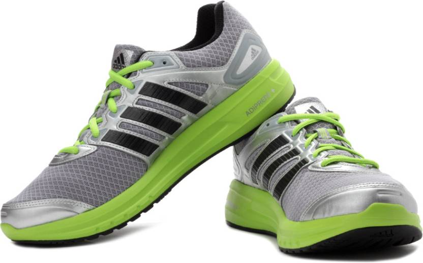 100% authentic 18aeb 8624a ADIDAS Duramo 6 M Running Shoes For Men (Black, Silver, Grey, Green)