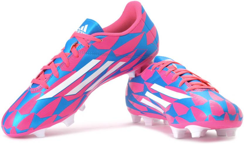 outlet store 6191d 9cdfe ADIDAS F5 Fg Football Shoes For Men (White, Pink, Blue)