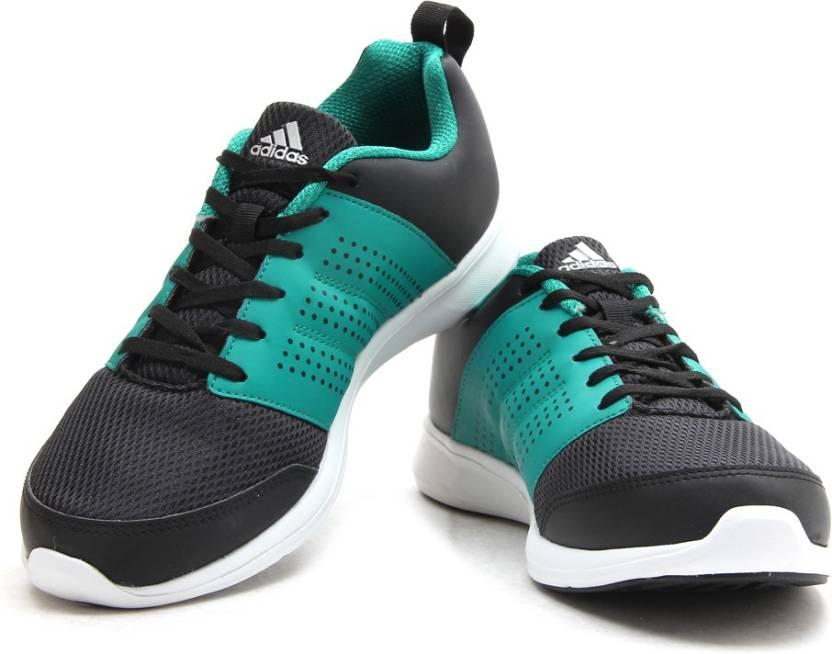 adidas adispree m uomini scarpe da corsa per gli uomini comprano cblack / eqtgrn