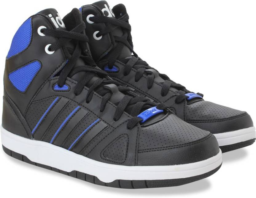 premium selection 62234 7197d ADIDAS NEO HOOPS TEAM MID Sneakers For Men (Black, Blue)