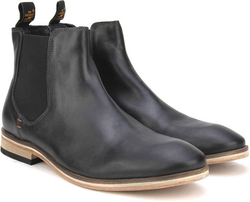 858da4dc82c7 Superdry PREMIUM METEOR CHELSEA BOOT Boots For Men - Buy Black ...