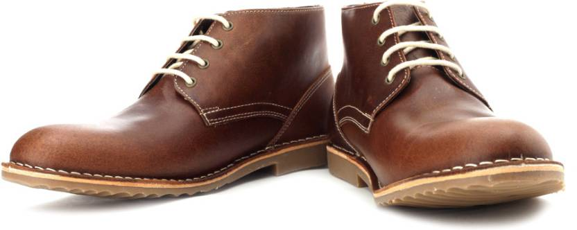 1b9dba9f8a04 Red Tape Men Genuine Leather Boots - Buy Brown Color Red Tape Men ...