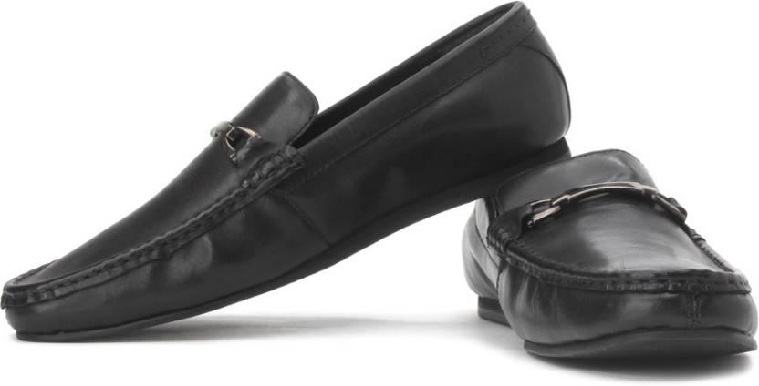 U.S. Polo Assn Burti Genuine Leather Slip On Shoes For Men (Black)