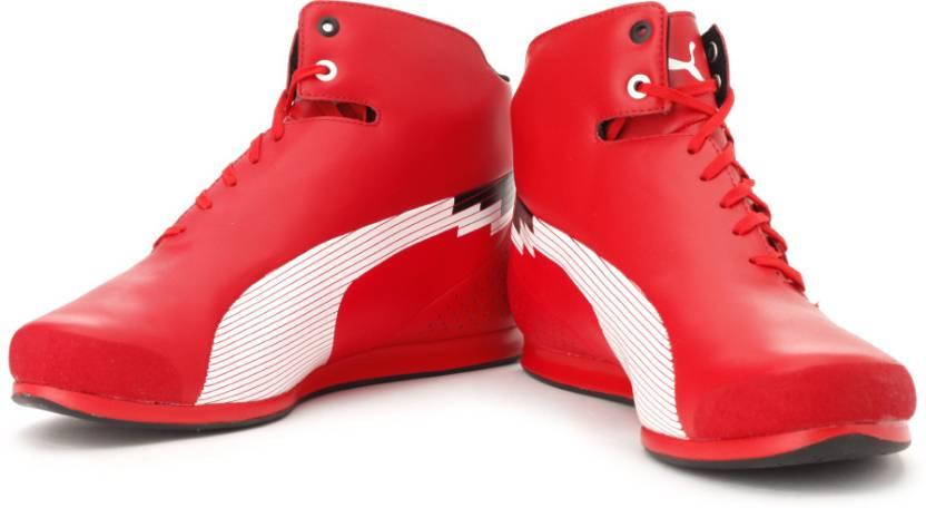 online store bb86b 0a98d Puma evoSPEEd F1 Mid Ferrari Motorsport Shoes For Men (Red, White)