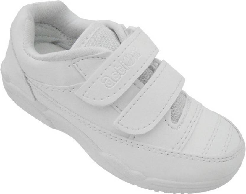 8d4c5c36ca2502 Action White Synergy School Style 1260W Casuals Shoes For Boys - Buy ...