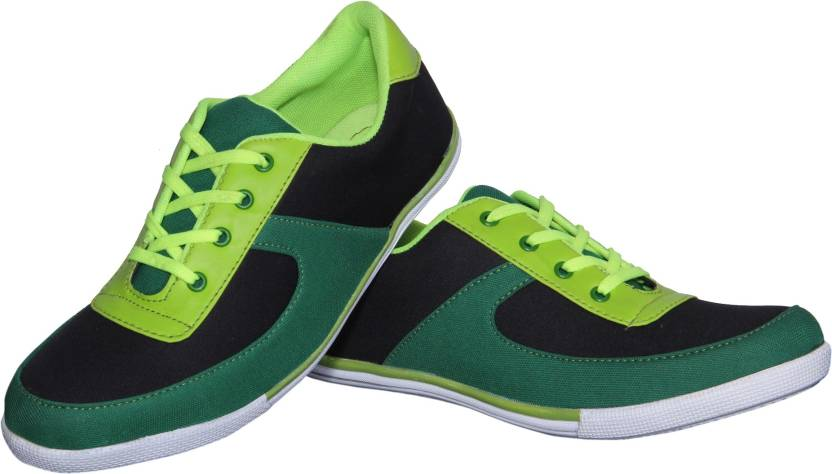 Mbs collection casual shoe canvas shoes for men buy green color