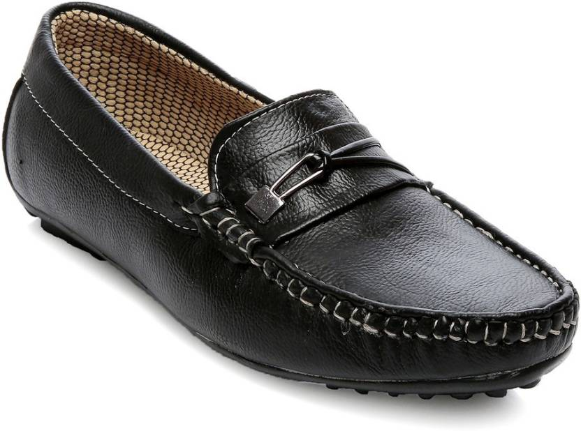 cd9408ad259 TEN Black Faux Leather Loafers Casuals For Men - Buy Black Color TEN ...