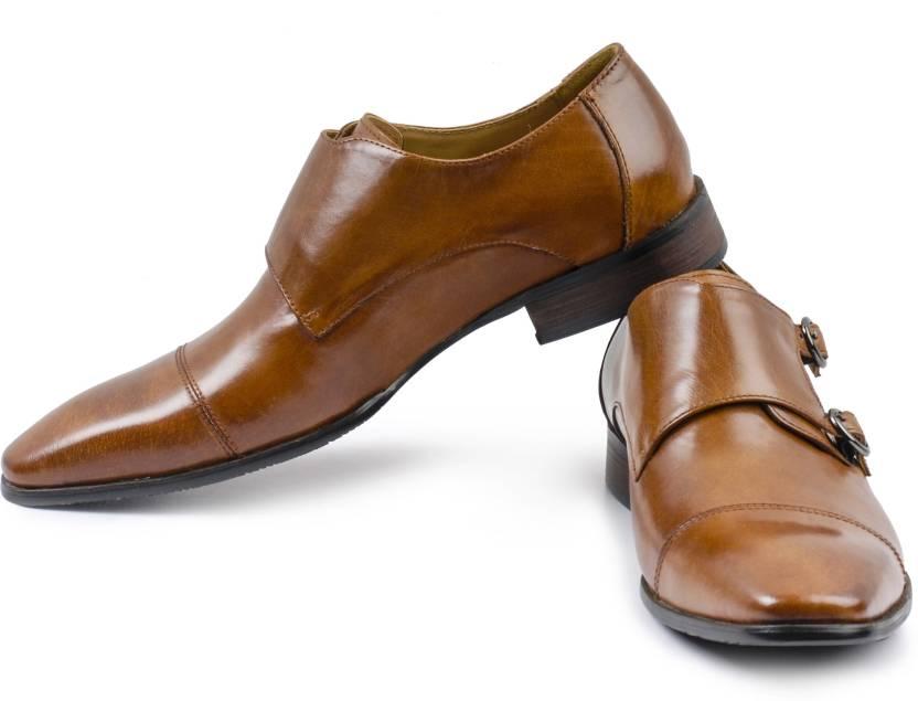 Mister Classy Cambridge Monk Strap Shoes For Men Buy Tan Color