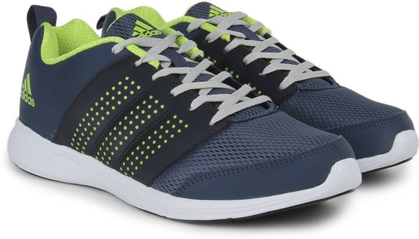 brand new 12c09 66924 ADIDAS ADISPREE M Men Running Shoes For Men (Green, Navy, Silver)
