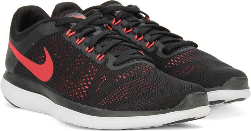 22261ccc15f01 Nike FLEX 2016 RN Running Shoes For Men - Buy BLACK UNIVERSITY RED ...