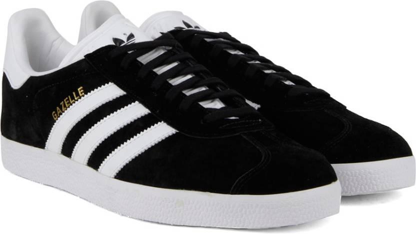 adidas originali gazzella scarpe per gli uomini comprano cblack / bianco / goldmt