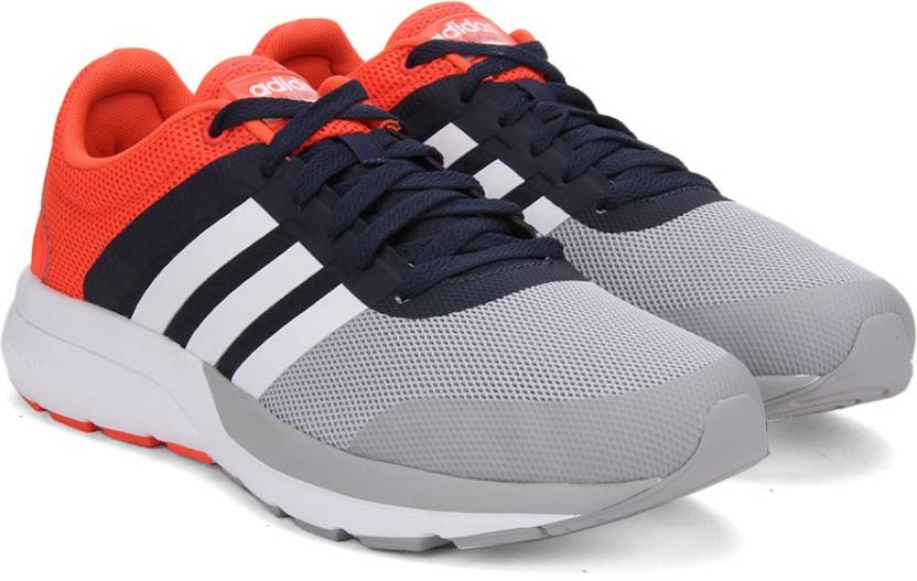 promo code 77dd3 657d9 ADIDAS NEO CLOUDFOAM FLOW 2.0 Sneakers For Men (Grey, Orange, White)