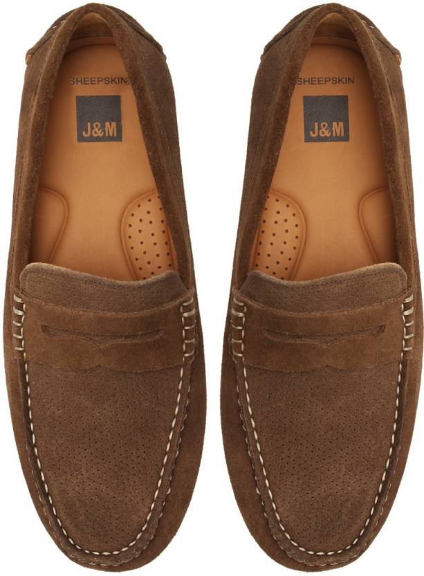 ab9803ef98f Johnston   Murphy Hardiman Perfed Penny Loafers For Men - Buy Brown ...