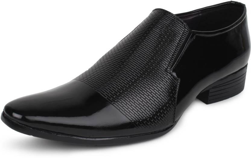 b43d6e3fa7 BUWCH Men Formal Black Patent Leather Shoe Party Wear For Men - Buy ...