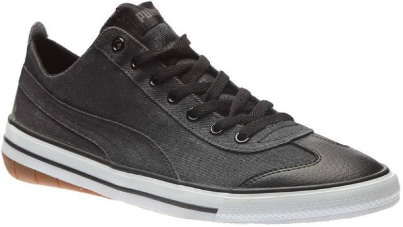 Puma 917 FUN Denim DP Canvas Shoes For Men - Buy Puma Black-Puma ... 156480950
