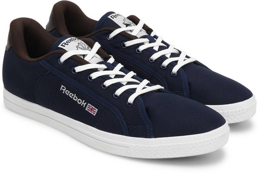 ee004fd1bb4 REEBOK COURT Canvas Shoes For Men - Buy NAVY CHALK EARTH WHITE Color ...