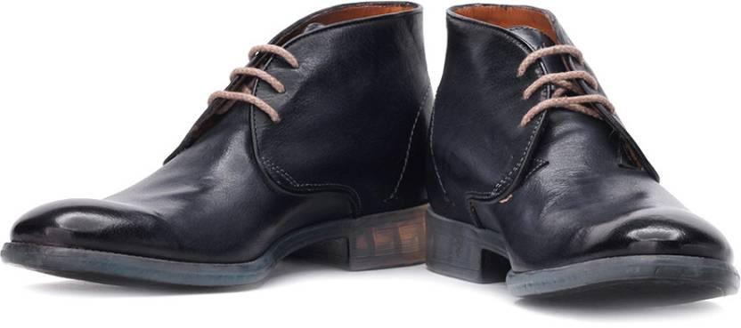 d4e3f421b64f Ruosh Genuine Leather Boots For Men - Buy Navy Color Ruosh Genuine ...