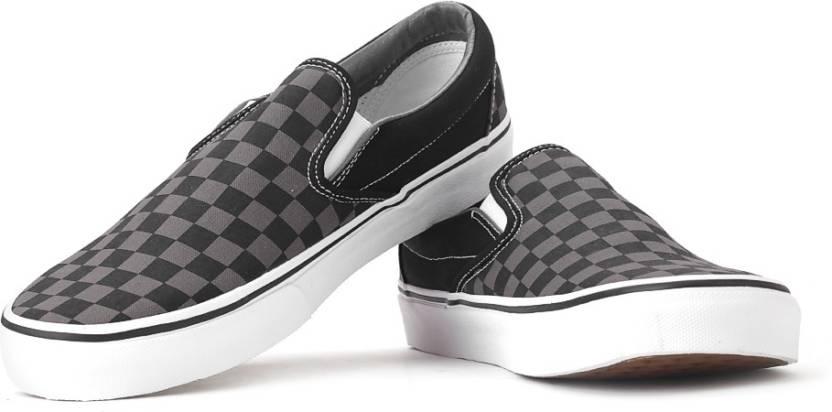 a1b6fb0764e7ef Vans Men Loafers For Men - Buy Black pewter checkerboard Color Vans ...