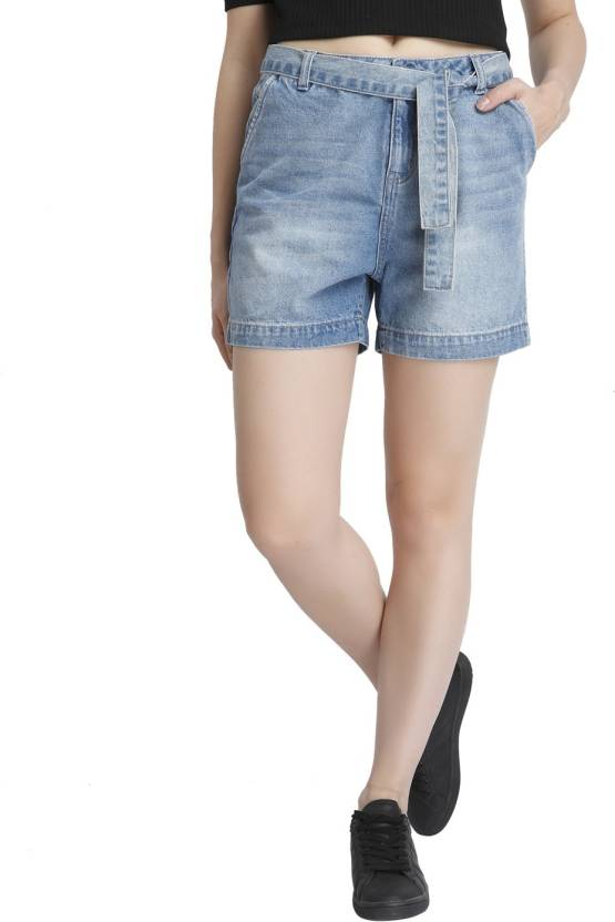f2ce1bae72 Vero Moda Solid Women's Blue Denim Shorts - Buy Light Blue Denim Vero Moda  Solid Women's Blue Denim Shorts Online at Best Prices in India |  Flipkart.com