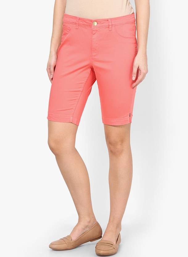 533747ec40 Only Solid Women's Pink Board Shorts - Buy Sugar Coral Only Solid Women's  Pink Board Shorts Online at Best Prices in India | Flipkart.com