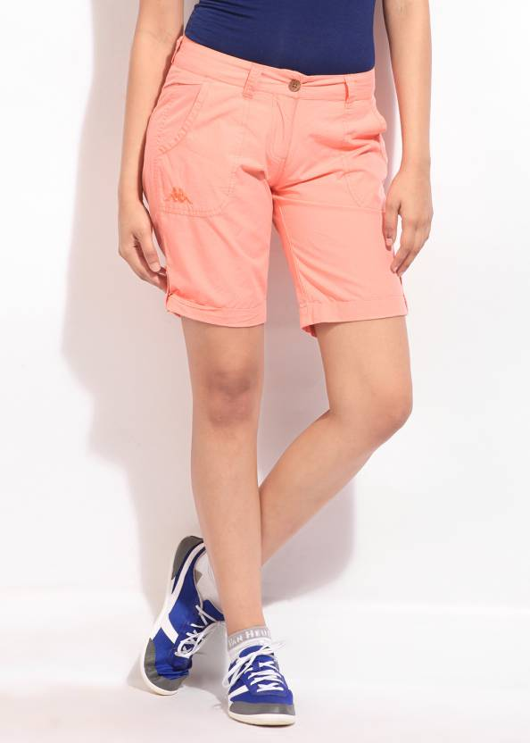 6d67d61451 Kappa Solid Women's Pink Sports Shorts - Buy Pink Kappa Solid Women's Pink  Sports Shorts Online at Best Prices in India | Flipkart.com