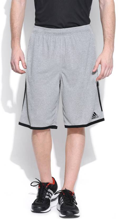 cccf89244 ADIDAS Solid Men s Grey Sports Shorts - Buy Grey ADIDAS Solid Men s Grey  Sports Shorts Online at Best Prices in India