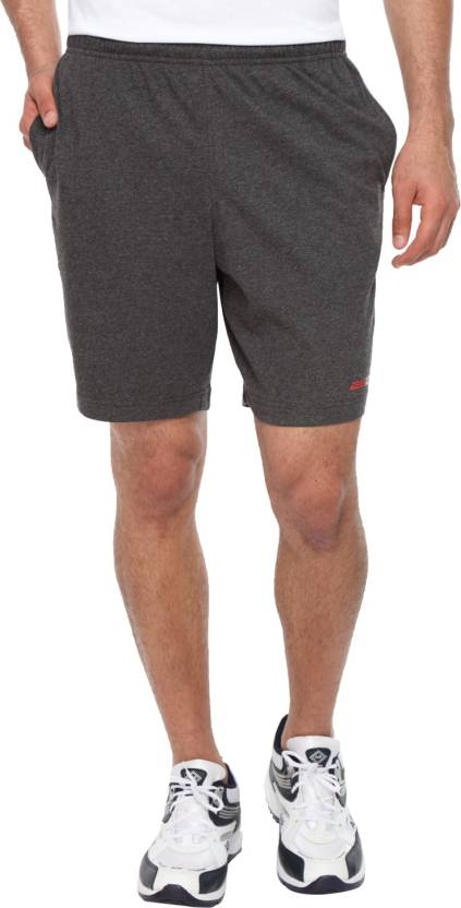 2GO Solid Men's Grey Sports Shorts