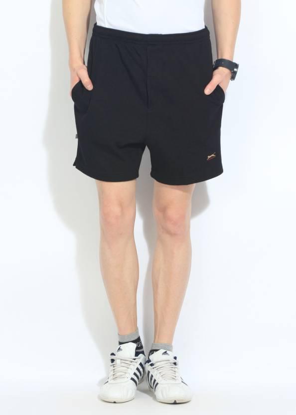f950b04c73 Black Panther Solid Men's Black Sports Shorts - Buy Black Black Panther  Solid Men's Black Sports Shorts Online at Best Prices in India |  Flipkart.com