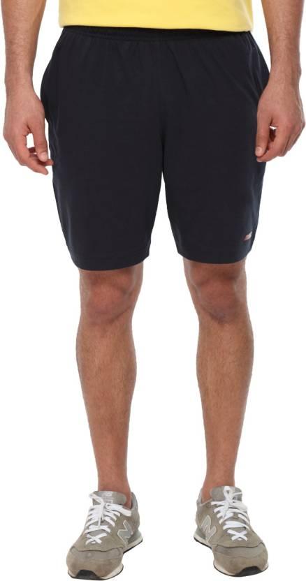2GO Solid Men's Blue Sports Shorts