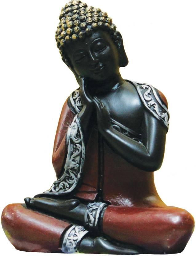 SR Crafts SR Crafts beautiful Antique Meditating Buddha Showpiece  -  16.5 cm