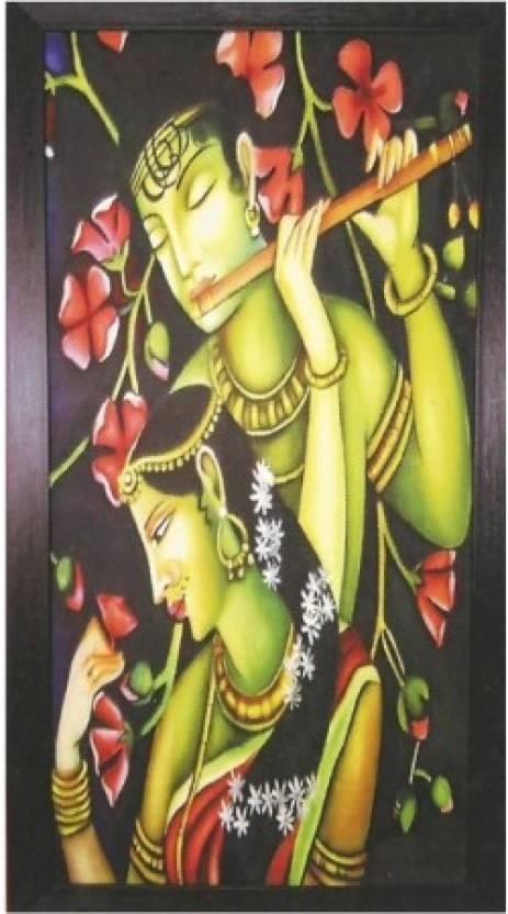 Wall Art Flower Radha Krishna Photo Frame Decorative Showpiece - 74 ...