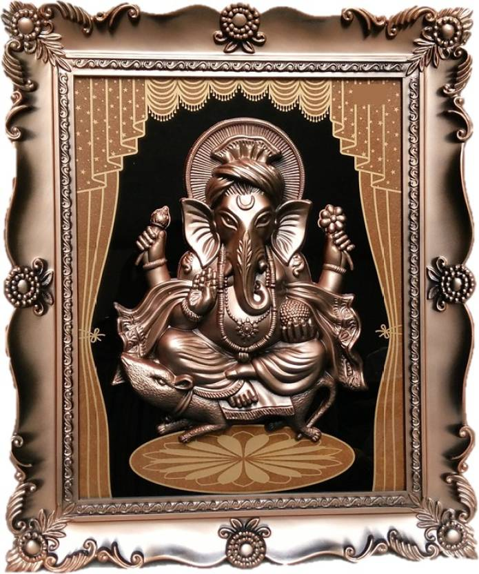 JaipurCrafts Lord Ganesha With Curtain Design Photo Frame Decorative ...