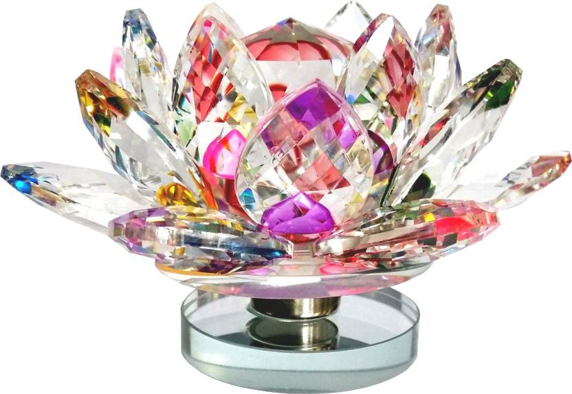 Starstell Fengshui High Quality Multicolor Crystal Lotus Flower With