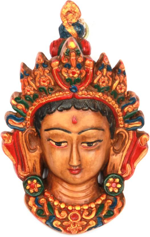 The Nodding Head Beautiful Goddess Durga Face Statue Showpiece  -  13 cm
